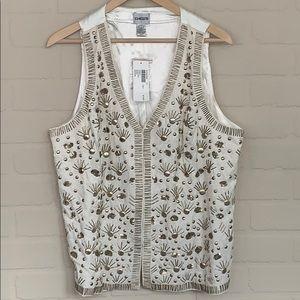 Chico's NWT vest trinket Olivia vest embellished 2